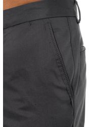 Lanvin - Gray Slim-Fit Cotton Chinos for Men - Lyst