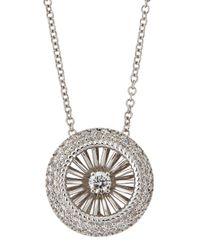 Roberto Coin - Metallic Art Nouveau Pav Diamond Necklace - Lyst