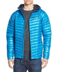 Mountain Hardwear | Blue 'ghost Whisperer' Hooded Goose Down Jacket for Men | Lyst