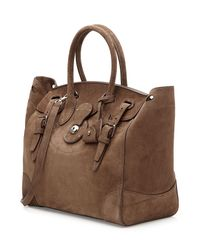 Ralph Lauren Collection - Ricky Suede Tote - Brown - Lyst