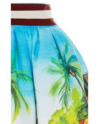 Stella Jean - Multicolor Cammello Printed Cotton Skirt - Lyst