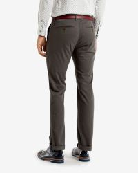Ted Baker   Gray Slim Fit Cotton Chinos for Men   Lyst