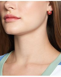Brooks Brothers - Red Ladybug Earrings - Lyst