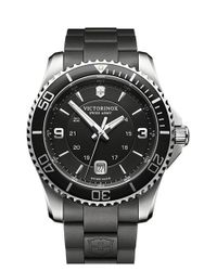 Victorinox - Black 'maverick' Rubber Strap Watch for Men - Lyst