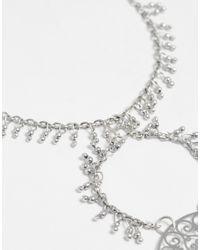 ASOS | Metallic Statement Boho Foot Chain | Lyst