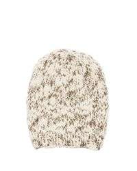 Michael Stars | Natural Hint Of Sparkle Hand Knit Slouch Hat in Cream | Lyst