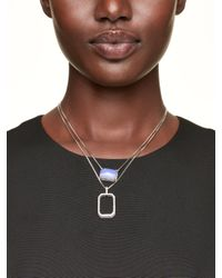 kate spade new york - Blue Super Stone Necklace - Lyst
