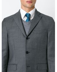 Brioni - Blue Dotted Tie for Men - Lyst