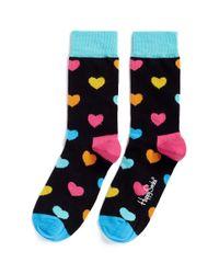 Happy Socks - Black Heart Socks - Lyst