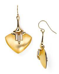 Alexis Bittar | Metallic Lucite Liquid Metal Crystal Baguette Wire Earrings | Lyst