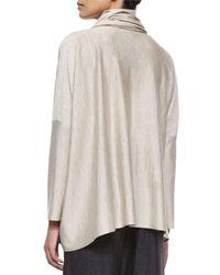 Eskandar - Natural Long-sleeve Bateau-neck Caftan - Lyst