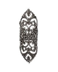 Ela Stone | Metallic 'dentelle' Lace Filigree Ring | Lyst