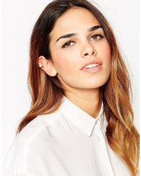 ASOS | Natural Pearl And Set Stone Mini Ear Cuff | Lyst