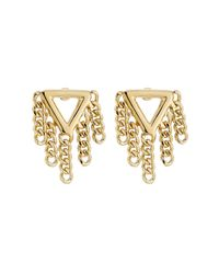 Marc By Marc Jacobs | Metallic Earrings With Chain Detail - Gold | Lyst