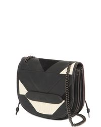 COACH | Black Shadow Leather Crossbody Bag | Lyst