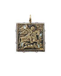 Sylva & Cie | Metallic Russian Travel Icon Pendant | Lyst