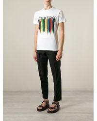 Iceberg - White Logo-Print T-Shirt for Men - Lyst