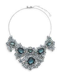 Alexis Bittar | Metallic Miss Havisham Liquid Crystal Sapphire & Pyrite Doublet Bib Necklace | Lyst