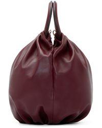 Loewe - Purple Burgundy Bounce Shoulder Bag - Lyst