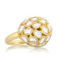 Pippa Small - Metallic 18-karat Gold Diamond Ring - Lyst
