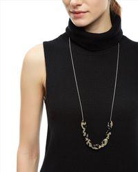 Jaeger - Gray Tortoiseshell Chain Necklace - Lyst