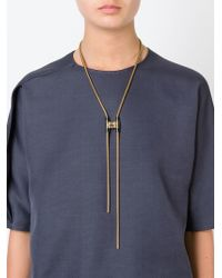 Lanvin - Metallic Clasp-toggle Necklace - Lyst