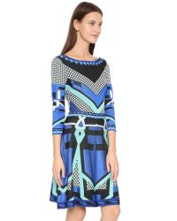 Temperley London | Blue Brooke Flared Dress | Lyst