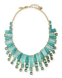 Kate Spade | Blue Beach Statement Necklace | Lyst