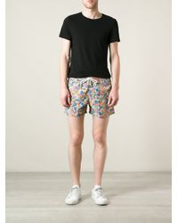 Hartford - Multicolor Printed Swim Shorts for Men - Lyst