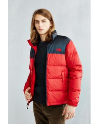 The North Face - Red Nuptse Jacket for Men - Lyst