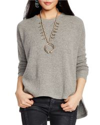 Polo Ralph Lauren | Gray Cashmere Waffle Sweater | Lyst