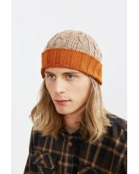 Urban Outfitters - Natural Contrast Cuff Beanie for Men - Lyst