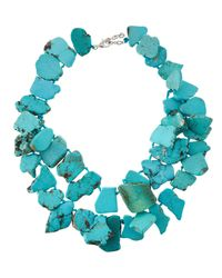 Panacea | Blue Turquoise Statement Necklace | Lyst