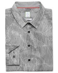Calvin Klein - Gray Topographic-Print Ultra Slim-Fit Shirt for Men - Lyst