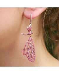 Wendy Yue - Pink Dragonfly Earrings - Lyst