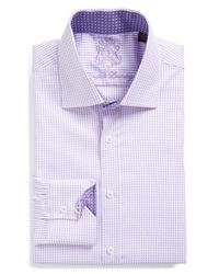 English Laundry - Purple Trim Fit Gingham Dress Shirt for Men - Lyst