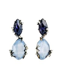 Alexis Bittar | Blue Mystic Marquis Drop Post Earring | Lyst