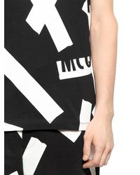 McQ - Black Tape Printed Cotton T-shirt for Men - Lyst