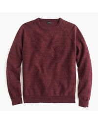 J.Crew | Red Rugged Cotton Sweater for Men | Lyst