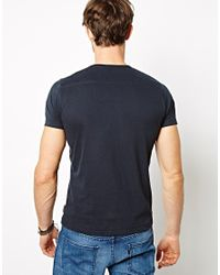French Connection | Blue T-shirt V-neck for Men | Lyst