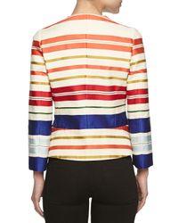 Stella McCartney - Green Short Striped Jacket - Lyst
