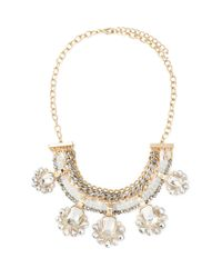 Forever 21 | Metallic Rhinestone Chained Statement Necklace | Lyst