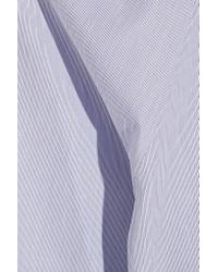 Atlantique Ascoli - Blue Habit Pinstriped Cotton-poplin Blouse - Lyst