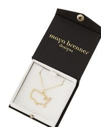 Maya Brenner Designs - Metallic Pave Diamond Usa Necklace - Lyst