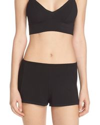 Only Hearts - Black 'sleeping Some' Jersey Tap Shorts - Lyst