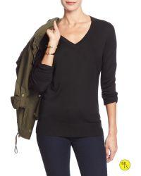 Banana Republic | Black Factory Vee Sweater | Lyst