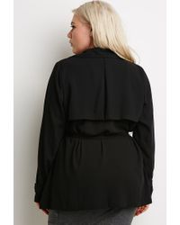 Forever 21 | Black Plus Size Self-tie Duster Jacket You've Been Added To The Waitlist | Lyst
