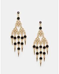 ASOS | Black Occasion Drop Earrings | Lyst