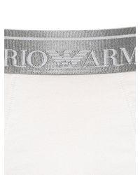 Emporio Armani - White Stretch Cotton Jersey Boxer Briefs for Men - Lyst