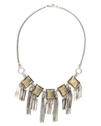 Gerard Yosca | Metallic Mother-of-pearl And Glass Fringe Necklace | Lyst